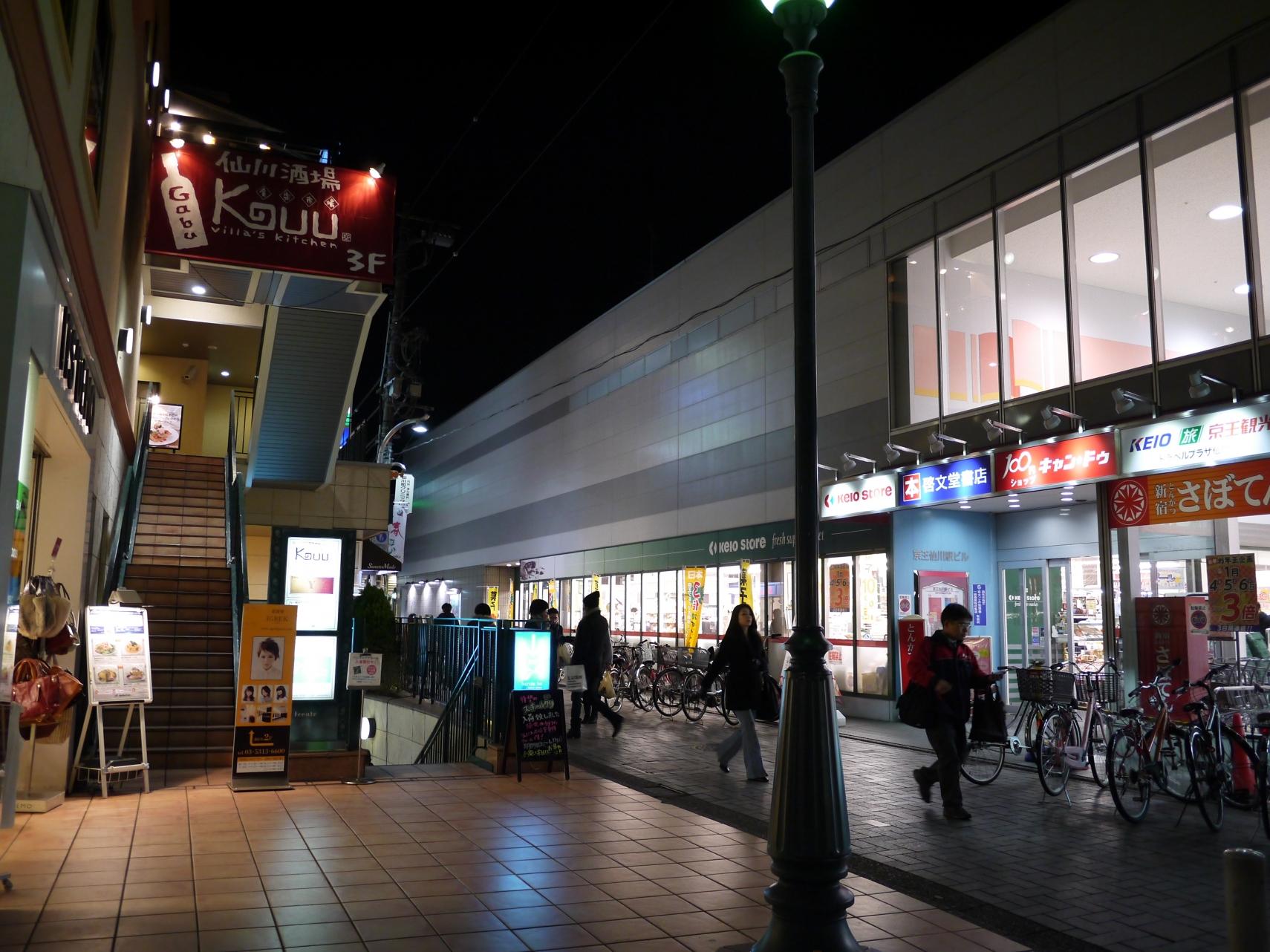 仙川駅前の色合いが良い